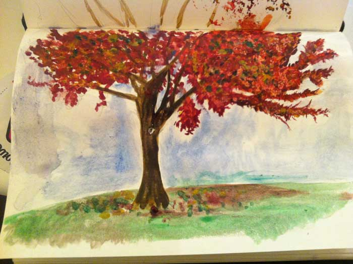Water colour tree 0.3