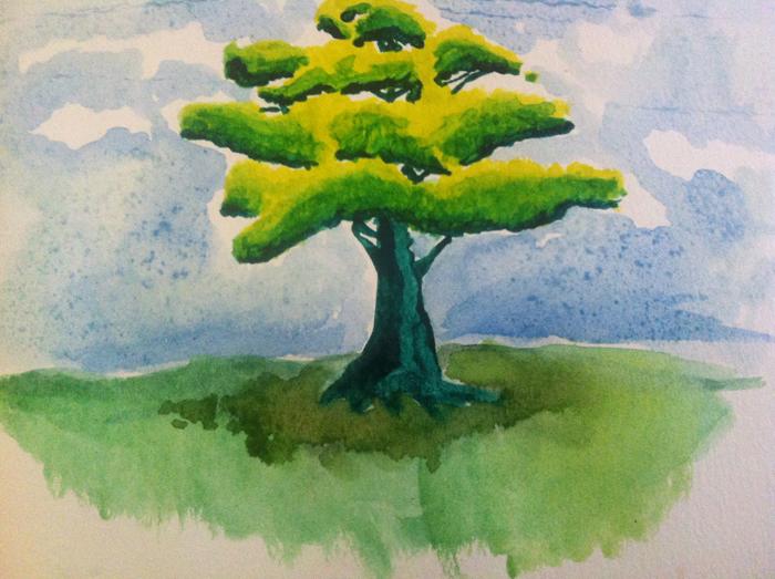 watercolour-tree
